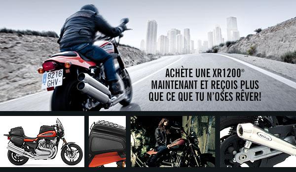 Achetez une XR1200 et choisissez l'équipement offert par Harley